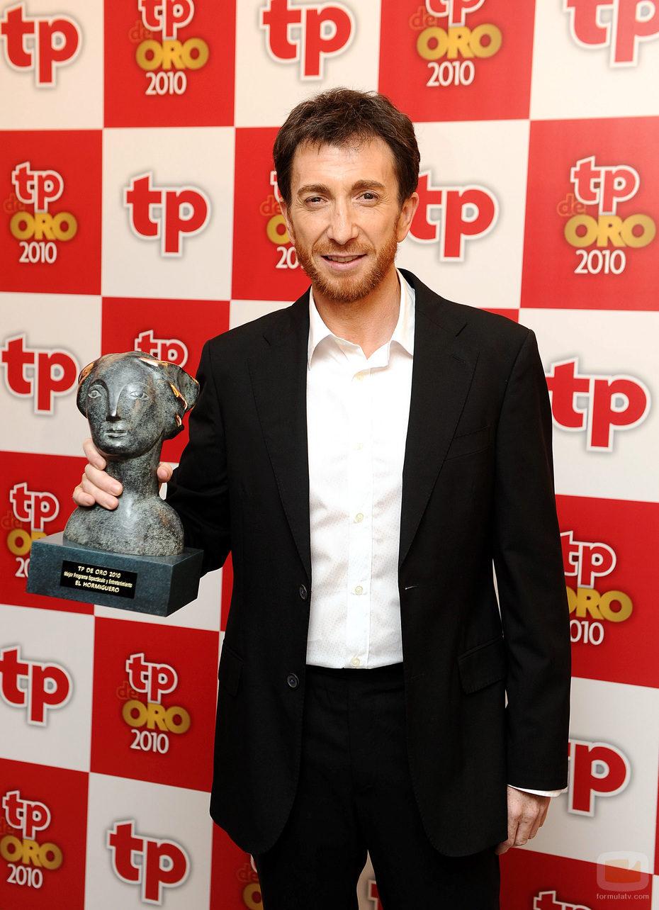 Pablo Motos recogió el premio por 'El hormiguero' en los TP de Oro