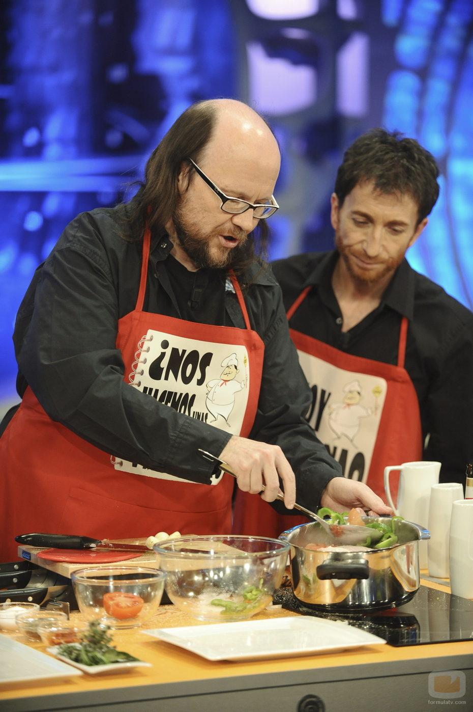 Santiago Segura cocina con Pablo Motos