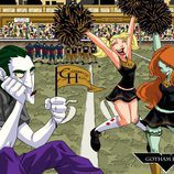 Joker y las animadoras Hiedra Venenosa y Harley Quinn