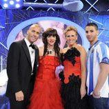 Mercedes Milá y los finalistas de 'Gran hermano 12'