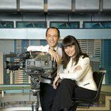 Hilario Pino y Marta Fernández en 'Informativos Telecinco 15:00'