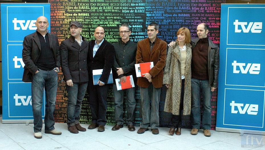 José Ramón Flórez, Fernando Montesinos, Jaime Guerra, Carlos López, Carlos Fernández, Eva Cebrián y Alejo Stivel