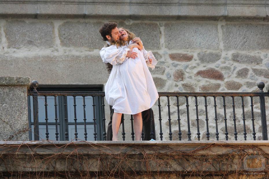 Tristán salva a Angustias en 'El secreto de Puente Viejo'