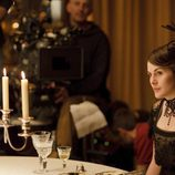 Michelle Dockery en el rodaje de 'Downton Abbey'