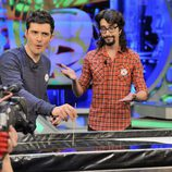Orlando Bloom y Marron en 'El hormiguero'