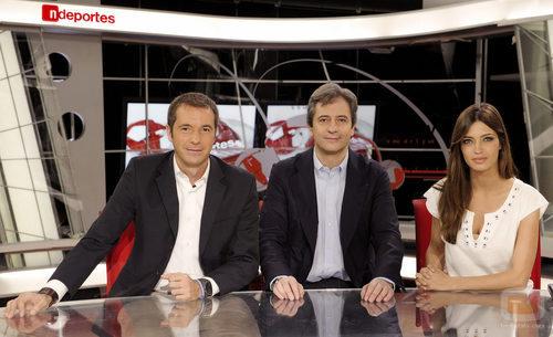 Manu Carreño, Manolo Lama y Sara Carbonero
