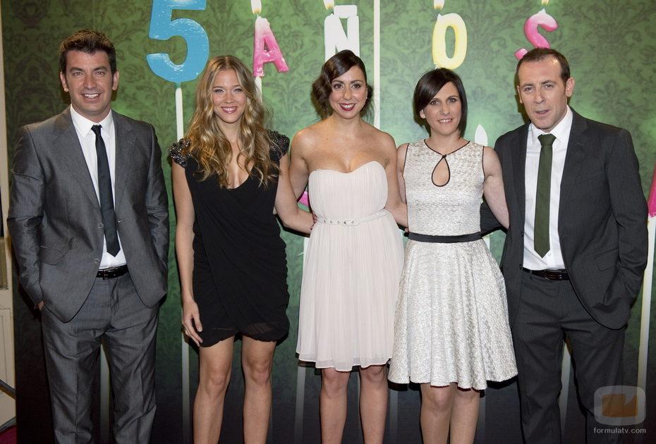 El equipo de 'Buen agente' en el aniversario de laSexta