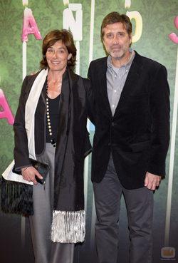 Emilio Aragón y su mujer en el aniversario de laSexta