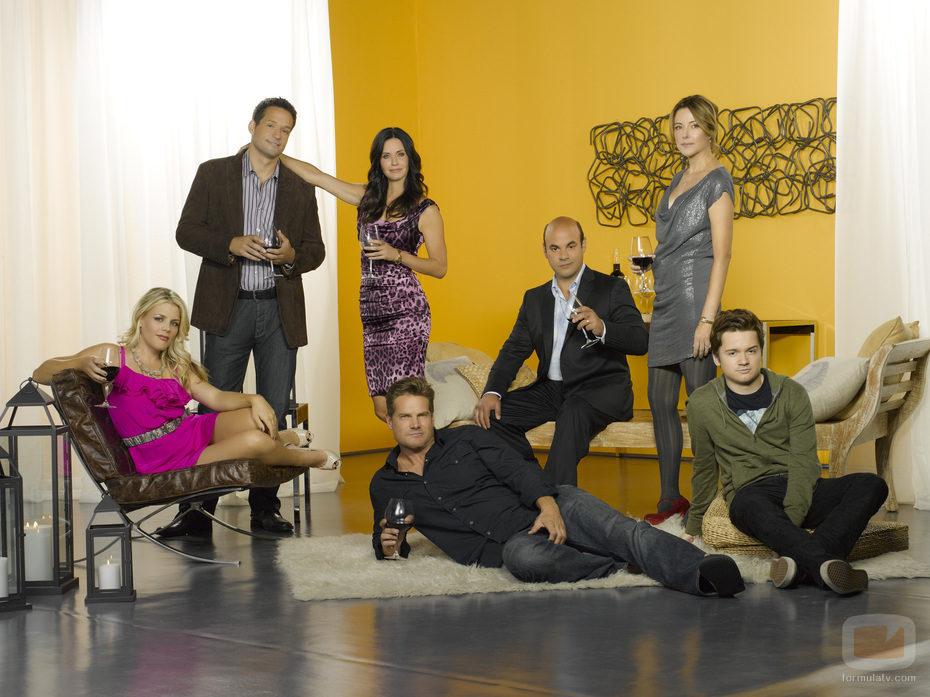 Los protagonistas de 'Cougar Town'