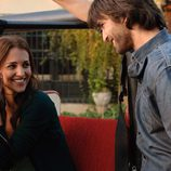 Raúl ríe con Lucía Reverte