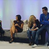 Verónica, Natalia, Vanessa y David en 'El reecuentro'
