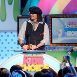 Johnny Depp en la gala de los Kids' Choice Awards