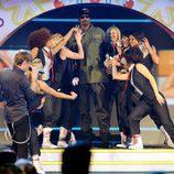 Snoop Dogg durante su actuación en la gala de los Kids' Choice Awards