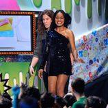 Shaun White y Keke Palmer en la gala de los Kids' Choice Awards