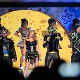 Will.i.am, Fergie, Apl.de.ap y Taboo actúan en la gala de los Kids' Choice Awards
