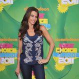 Sofia Vergara en la alfombra naranja de los Kids' Choice Awards
