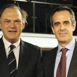 Juan Pedro Valentín y Pedro Piqueras, del Grupo Telecinco