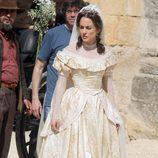 Silvia Alonso vestida de novia