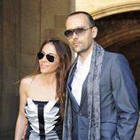 Risto Mejide y Ruth Jiménez en la boda de Óscar Cornejo y Jaume Collboni