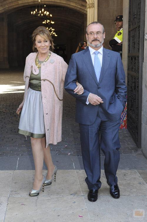 Mila Ximénez, en la boda de Óscar Cornejo y Jaume Collboni