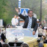 Miguel Ángel Revilla llega a los Premios Micrófonos de Oro 2011