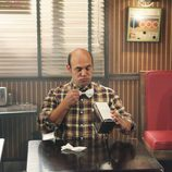 Andy en la cafetería de Grayson