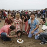 Jordi Mestre, enterrado en la arena