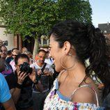 Lucía Pérez con sus fans