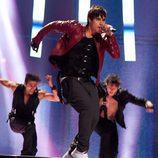 Eric Saade (Suecia) en la final de Eurovisión 2011