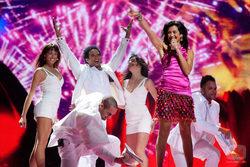 Lucía Pérez (España) en la final de Eurovisión 2011