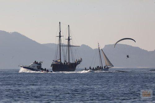 Imagen exterior del abordaje de los piratas