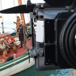 Making of de una se las secuencias de 'Piratas'