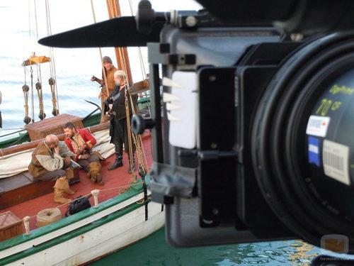 Making of de una se las secuencias de 'Piratas'