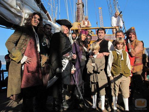 Foto familiar de 'Piratas: El tesoro perdido de Yáñez El Sanguinario'