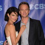Cobie Smulders y Neil Patrick Harris en los Upfronts 2011 de CBS