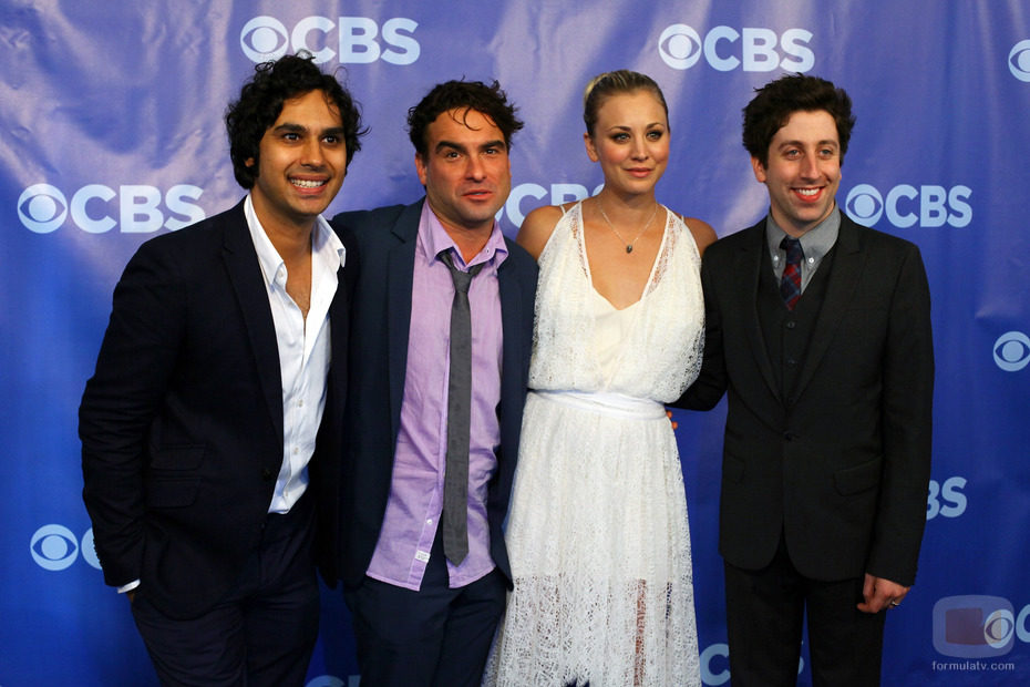 Elenco de 'The Big Bang Theory' en los Upfronts 2011 de CBS