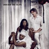 Cartel promocional de la cuarta temporada de 'True Blood' en blanco