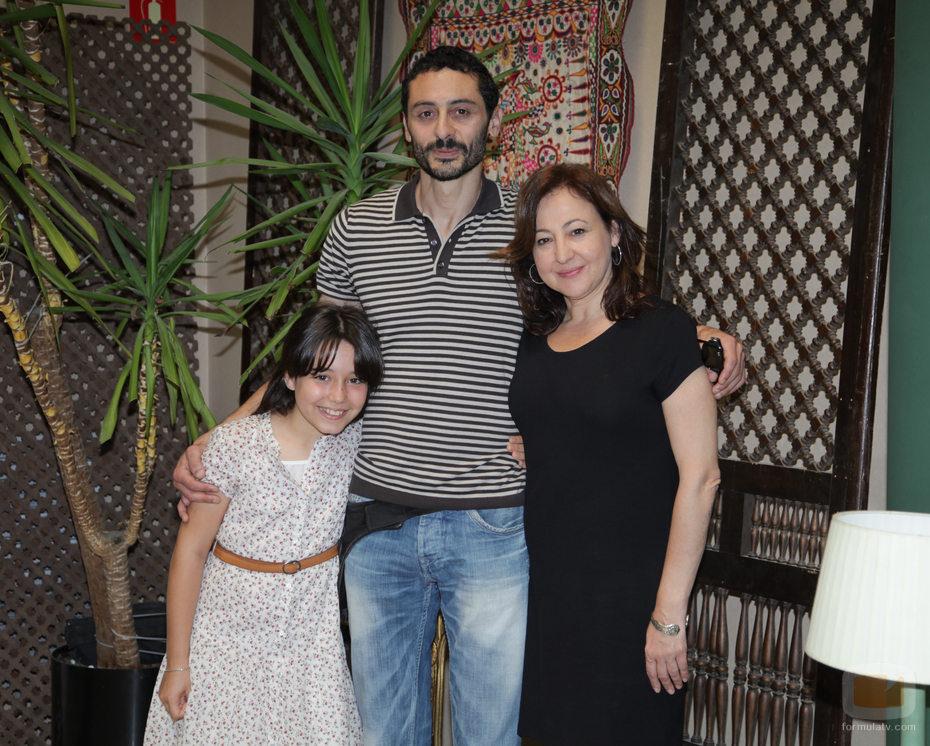 Sandra Melero, Abdelatif Hwidar y Carmen Machi