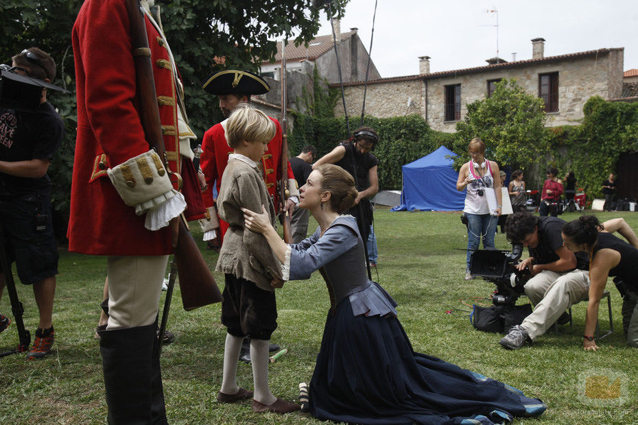 Rodaje de una escena entre Antón y Blanca en 'Piratas'