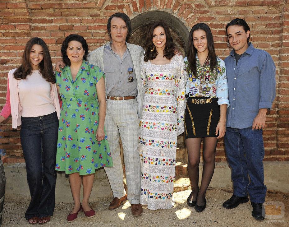Rocío Dúrcal con su familia en 'Marieta'