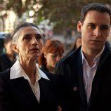 Sofía y Daniel Reverte en el funeral de Lorena en 'Gran reserva'