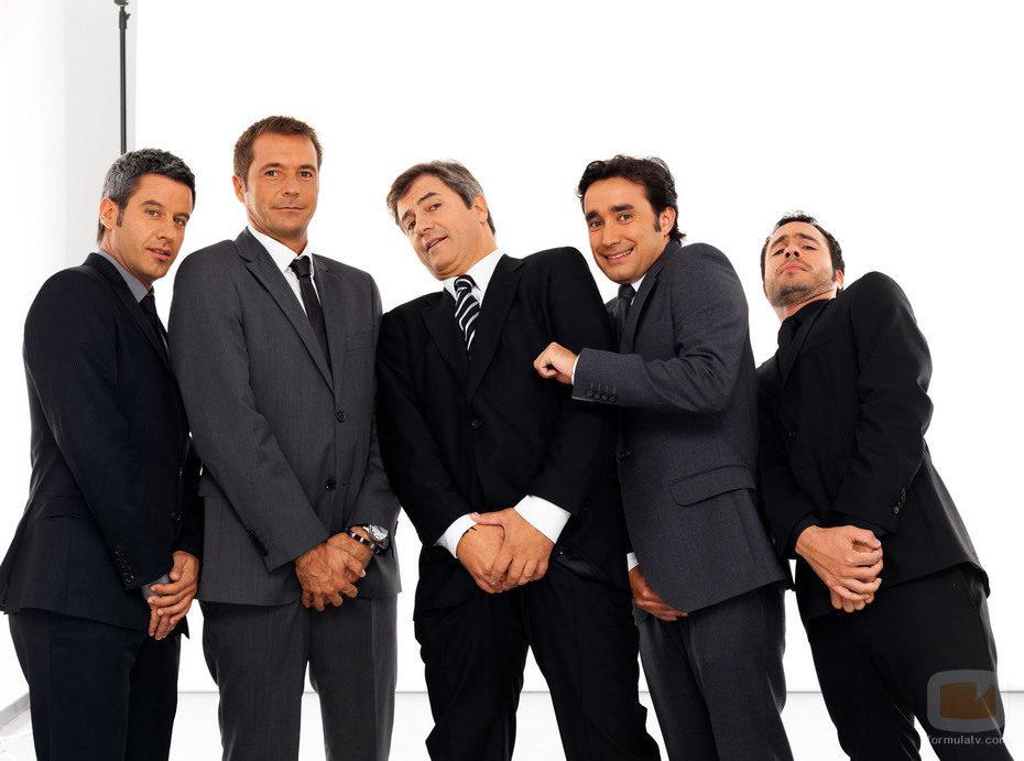 Nico Abad, Manu Carreño, Manolo Lama, Juanma Castaño y Luis García