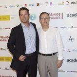 Manuel Baqueiro y José Antonio Sayagués de 'Amar en tiempos revueltos' en los Premios de la ATV
