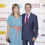 Manuel Campo Vidal y María Rey en los Premios de la ATV