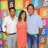 Màxim Huerta, Ana Rosa Quintana y Joaquín Prat