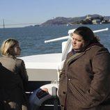 Sarah Jones y Jorge García en 'Alcatraz'