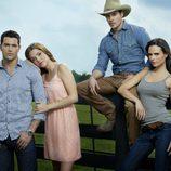 Jesse Metcalfe, Julie Gonzalo, Josh Henderson y Jordana Brewster en 'Dallas'
