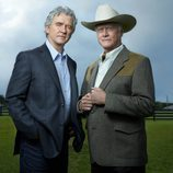 Patrick Duffy y Larry Hangman son Bobby y JR en 'Dallas'