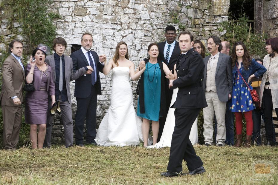 El reparto de 'Doctor Mateo' en el último capítulo de la serie