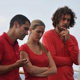 Aitor Begolain, Vanessa López y Andrés Blanco de 'El barco: Rumbo a lo desconocido'